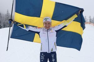 Frida Karlsson åkte hem JVM-guld åt Sverige under torsdagen. Bild: Privat