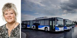 Nina Höjer berättar om orsakerna till förändringarna av biljettavgifter för resor med kollektivtrafiken i Örebro. (Bilden är ett montage)