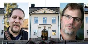 Vänsterpartiets gruppledare Patrik Liljeglöd och oppositionsrådet Jonas Lennerthson (S). Foto: Montage