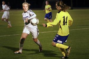 Frösöns Hanna Plantinger fick avgöra torsdagens derby mot Ope på Lövsta.