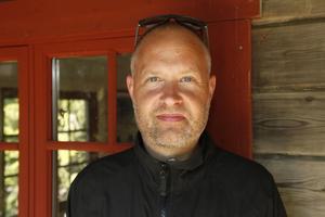 Emil Söderhjelm är guide på Myskoxcentrum.