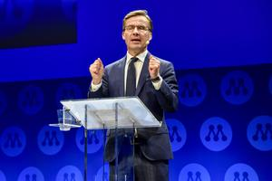 Moderaternas partiledare Ulf Kristersson. Foto: Linus Svensson/TT