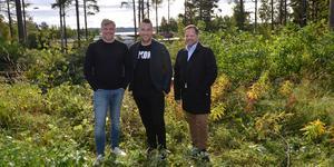 Damian Sasak, Gabriel Jonsson och Patrik Jonsson ska bygga ett flerfamiljshus med 20 lägenheter  i Bredsand.