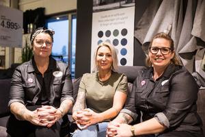 Från vänster: Linda Rehné, Maria Ljungqvist och Eva Lyckholm.