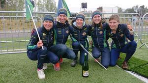 Från vänster: Irina Nyberg, Josefine Heikka, Galina Vinogradova, Sara Eskilsson, Natalia Gemperle Fotograf: Lars Engström