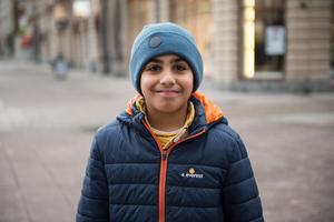 Younes Daoud, 10 år, studerande, Sundsvall.