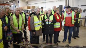 SPF-medlemmarna i Hammerdal gjorde ett besök hos Attacus Betonghus. Foto: Karin Haxner