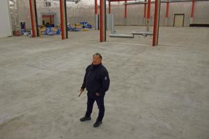 Den nya inomhushallen rymmer 3 000 kvadratmeter.