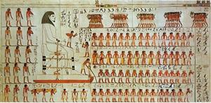 Även i forntidens Egypten var det de mångas arbete som möjliggjorde de få rikas statusnivå.