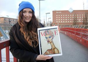 20-åriga Johanna Dorm från Borlänge ska nu flytta till London är där studera mode- och design vid London College of Fashion.