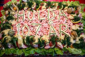 20 kilo smörgåstårta garanterade att ingen behövde vara hungrig.