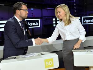 Den nya högern i svensk politik? Jimmie Åkesson (SD) och Ebba Busch Thor (KD) Foto: Jonas Ekströmer / TT