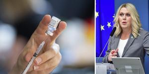 Socialminister Lena Hallengren har kallat till en pressträff på temat vaccin. Arkivbilder.
