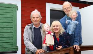 Anders Magnusson, Maj-Britt Strömberg och Erik Eriksson har premiär på den nya dockteaterföreställningen den 29 juni.