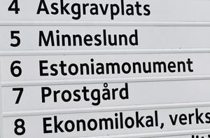 Estoniamonumentet är en minnesplats.