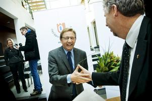 Dåvarande rektor Jens Schollin gläds 2010 över att läkarlinjen äntligen blir verklighet på Örebro universitet. Arkivbild: Jonas Eriksson