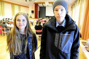 Lovisa Holten och Dag Hellby, elever på Nyhedens skola, fick gehör av politikerna för sitt förslag om ett café i centrala Krokom.