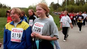 Pernilla Nordvall och Beatrice Forsell-Svensson deltog i Vårruset 1998 när de båda var 13 år.