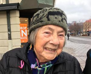 Astrid Nyman, 85 plus, pensionär, Matfors