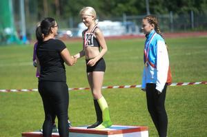 Högst upp på prispallen; Ida Winlöf från Söderhamn.