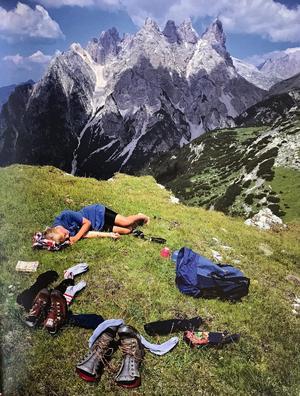 """Dolomiterna i norra Italien bjuder på en av de mest spektakulära vandringarna i Claes Grundstens bok """"Vandra i Europa."""" Foto: Claes Grundsten"""