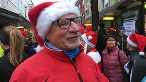 Torbjörn Frisk tycker att juljoggen är härlig start på julfirandet.