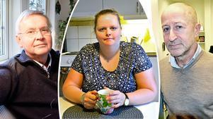 Elin Lindgren från Domsjö och överläkaren Kenneth Challis (tv) är båda besvikna över Region Västernorrlands beslut att inte starta ett vårdprogram för lipödem. Regionens chefläkare Martin Enander (th) konstaterar att det saknas bevis för att det skulle finnas en fungerande behandling och att det därför behövs mer forskning.