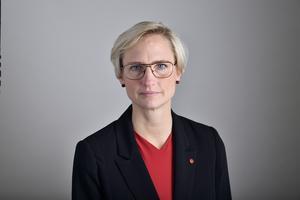 Åsa Eriksson, riksdagsledamot för Socialdemokraterna. Foto: Henrik Montgomery / TT