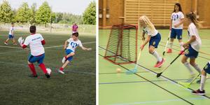 Fotboll och innebandy var ett par av idrotterna under årets första Hero Camp.