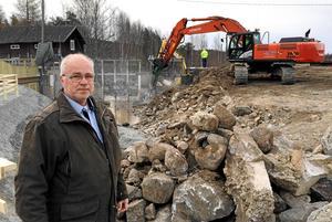 Jan-Åke Holmdahl, vattensamordnare, menar att Falun kunnat ta det lugnt några år då det varit låga vattennivåer men att nu finns det risk för en kraftig vårflod.
