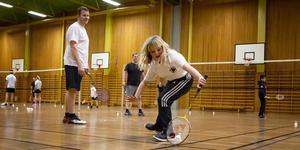 Klara Jakobsson i full aktion.