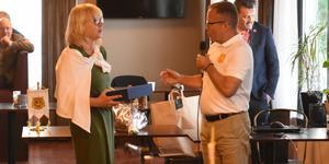 Helene Kviele tackades av både medlemmar och nya ordförande Lars Lisspers.