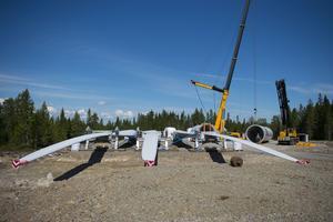Siemens bygger vindkraftparken vid Enviksberget, Falu kommun.