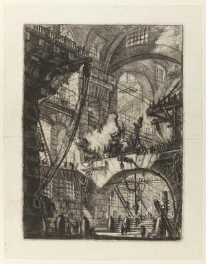 Sjätte gravyren i Giovanni Battista Piranesis serie