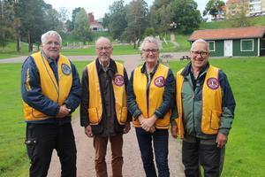 Christer Kärvemo,  Roy Thuman, Anki Rooslien president för Lions i Hedemora och Erik Nilses berättade om årets ljusfest.