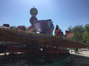 Karuseller på Ludvika vårmarknad