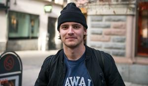 Karl Beckman, 21 år, student, Stockholm.
