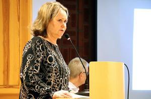 Socialchef Katarina Persson berättar att man inlett ett arbete med att titta på hur kostprojektet vid Hallstaborg ska kunna införas vid samtliga särskilda boenden i Ånge kommun.
