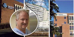 Per-Olof Bergemalm verkade under sitt yrkesliv på såväl Karlskoga lasarett, USÖ samt Lindesbergs lasarett. Fotomontage