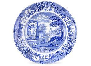Lyx. Blue Italian assiett från engelska Spode. 249 kronor för en tallrik på Newport.