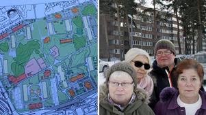Det blir en stor befolkningsökning på en liten yta. Trängseln leder sedan till andra problem, befarar Inga Andersson, Lisbeth Henriksson, Ulla Harju och Annika Gottberg som alla bor på Hammarby.