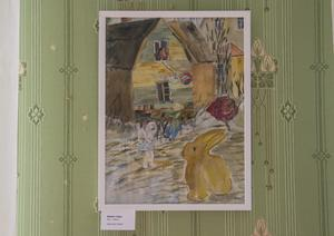 Inga-Lena Olssons tavla Besök i Tiden, en tavla som betyder extra mycket för henne.