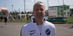 Riki Simic från AIK är riktigt nöjd med årets upplaga av Flygfyren Sommarcup.