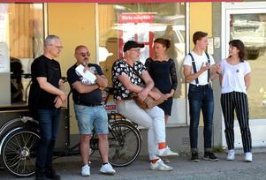 Visionsgruppen i Visionspalatset: Peter Feurst, VN, Nico Erimidis, IFK Värnamo, Sofia Elmgren, Unga internationella vänner, Nicklaes Malmsten, FiGy och Klara Aune, FiGy.