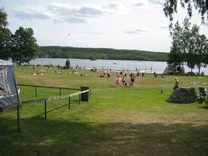 Edskens camping. Arkivbild