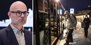 Undvik kollektivtrafiken – och använd munskydd i i situationer där nära kontakt inte går att undvika. Arkivbilder.