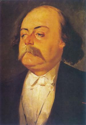 Gustave Flaubert 1856. Målning av Eugène Giraud.