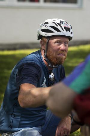 Anders Vikström Aloandersson är en av volontärerna som kör de guidade turerna.