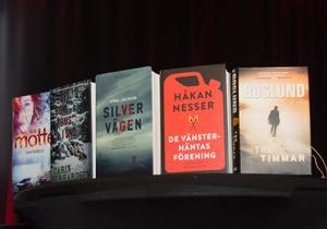 De fem nominerade böckerna till titeln Årets bästa svenska deckare.
