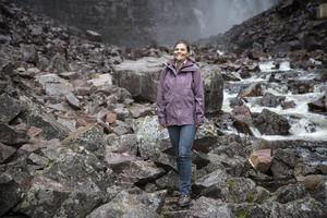 Kronprinsessa Victoria vid Sveriges högsta vattenfall